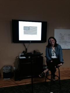 Guest speaker Mandy Hayes-Chandler